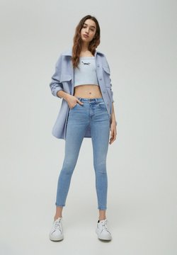 PULL&BEAR - LOW WAIST - Jeans Skinny Fit - light blue