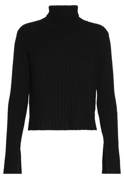 pure cashmere - TURTLENECK - Strickpullover - black