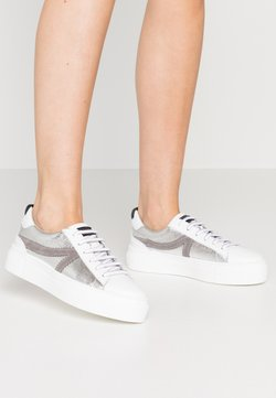 Tamaris - LACE-UP - Sneaker low - silver