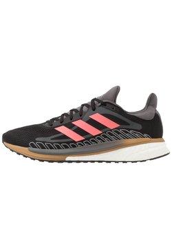 adidas Performance - SOLAR GLIDE BOOST RUNNING SHOES - Obuwie do biegania treningowe - core black/signal pink/copper metallic