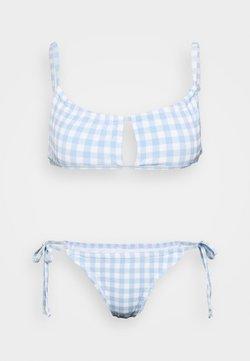 Cotton On Body - GATHERED BRALETTE BRAZILIAN SET - Bikini - pale blue