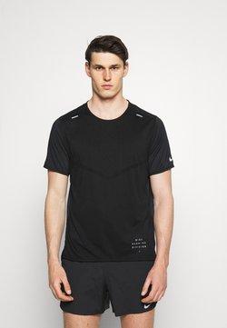 Nike Performance - RISE - T-shirt imprimé - black/black