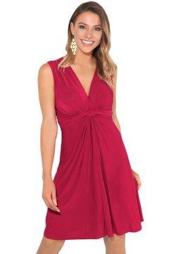 KRISP - KNOT FRONT SELF - Cocktail dress / Party dress - dark red
