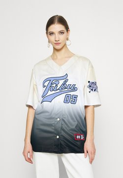 FUBU - VARSITY BASEBALL GRADIENT - T-Shirt print - beige