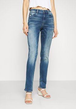 G-Star - NOXER HIGH STRAIGHT WMN - Jeans Straight Leg - faded azurite