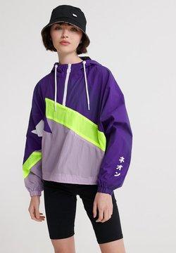 Superdry - SUPERDRY URBAN SPLICED OVERHEAD JACKET - Windbreaker - purple opulence
