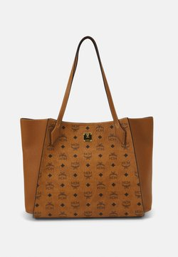 MCM - LUISA VISETOS BLOCK - Shopping Bag - cognac
