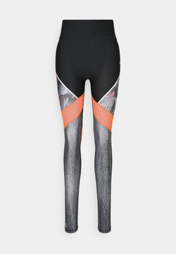 ONLY PLAY Tall - ONPJUDIE TRAINING TIGHTS - Legging - black/fiery coral