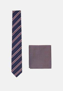 Pier One - SET - Krawatte - bordeaux/dark blue