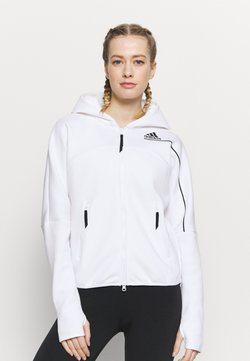 adidas Performance - ZNE - Bluza rozpinana - white
