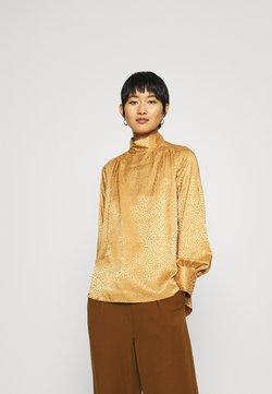 Closet - CLOSET HIGH NECK BLOUSE - Bluse - gold