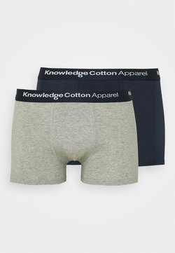 Knowledge Cotton Apparel - MAPLE UNDERWEAR 2 PACK - Shorty - grey melange