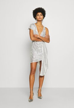 Patrizia Pepe - ABITO/DRESS - Vestito elegante - silver-coloured