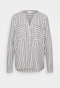 TOM TAILOR DENIM - COZY - Bluse - grey/white