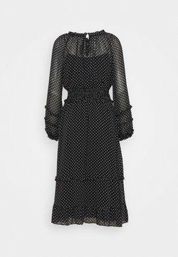 Lauren Ralph Lauren - DESMOND LONG SLEEVE DAY DRESS - Freizeitkleid - black/colonial cream
