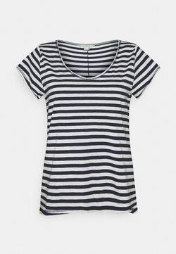 Esprit - SLUB - T-Shirt print - navy