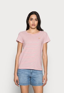 TOM TAILOR - T-Shirt print - offwhite/red