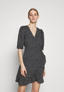 ONLY - ONLSWEETHEART WRAP FRILL DRESS - Vapaa-ajan mekko - black