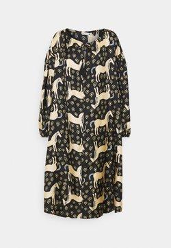 Marimekko - YHDESSÄ MUSTA TAMMA DRESS - Freizeitkleid - black/beige/blue