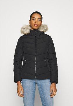 Calvin Klein Jeans - SHORT FITTED PUFFER - Daunenjacke - black