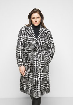 ONLY Carmakoma - CARFANDANGA LONG COAT - Classic coat - black/white