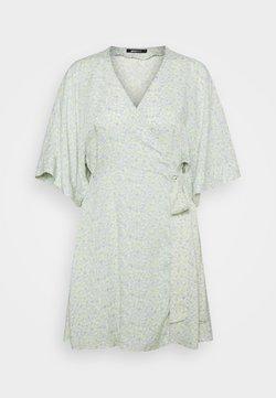 Gina Tricot - DOLLY SHORT DRESS - Freizeitkleid - blue ditsy