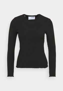 Selected Femme Petite - SLFANNA crew neck tee - Camiseta de manga larga - black