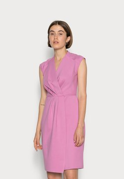 Closet - CLOSET PLEATED WRAP PENCIL DRESS - Vestido ligero - light pink