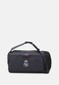 adidas Performance - REAL MADRID SPORTS FOOTBALL DUFFEL BAG UNISEX - Klubtrøjer - grey five/white/pink