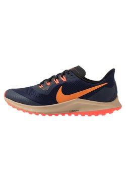 Nike Performance - AIR ZOOM PEGASUS 36  - Löparskor terräng - obsidian/magma orange/black/laser crimson/khaki