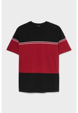 C&A - T-Shirt print - black / red