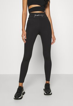 KENDALL + KYLIE - HIGH WAIST LOGOTIGHTS - Legging - black