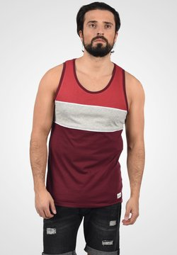 Solid - COBY - Top - wine red