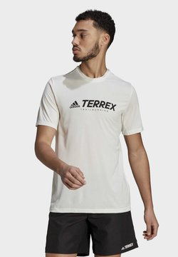 adidas Performance - TERREX PRIMEBLUE TRAIL FUNCTIONAL LOGO T-SHIRT - Camiseta estampada - white