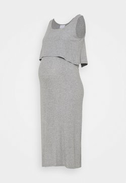 MAMALICIOUS - NURSING DRESS - Freizeitkleid - light grey melange