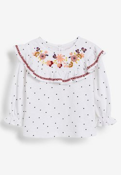 Next - EMBROIDERED - Camiseta estampada - white