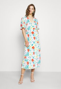 Glamorous - FLORAL WRAP DRESS WITH TIED DETAIL - Kjole - bright multi