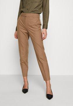 Selected Femme - SLFRIA CROPPED PANT - Spodnie materiałowe - camel/melange