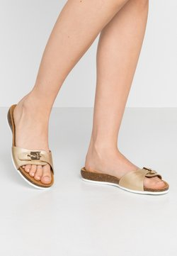 Scholl - BAHAMAIS - Chaussons - or