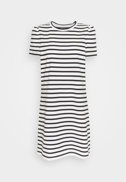 kate spade new york - STRIPE PUFF SLEEVE DRESS - Jerseykleid - cream