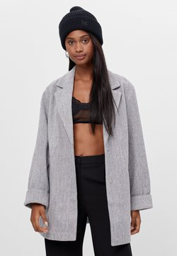 Bershka - Kurzmantel - light grey