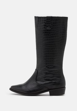 YAS - CAROLINA KNEE HIGH BOOTS - Stiefel - black