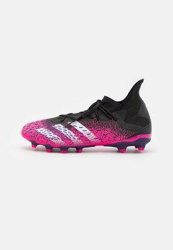 adidas Performance - PREDATOR FREAK .3 MG - Botas de fútbol con tacos - core black/footwear white/shock pink