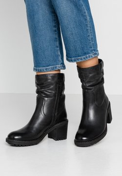 Anna Field - LEATHER WINTER BOOTIES - Vinterstøvler - black