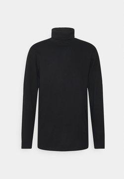 Denim Project - ROLLNECK TEE - Pitkähihainen paita - black