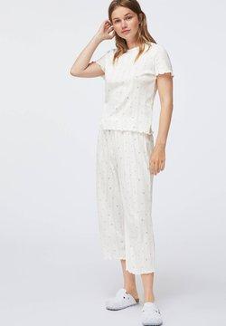 OYSHO - BLUE FLOWER - Nachtwäsche Shirt - white