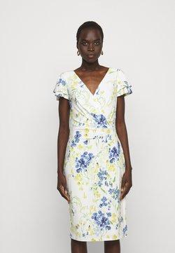 Lauren Ralph Lauren - PRINTED MATTE DRESS - Etui-jurk - cream/yellow