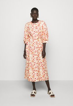 Mother of Pearl - MIDI DRESS WITH TUCKS IN SLEEVE - Freizeitkleid - sepia blossom