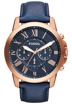 Fossil - Montre à aiguilles - blue/rose gold