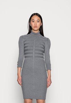 Morgan - Stickad klänning - gris anthracite